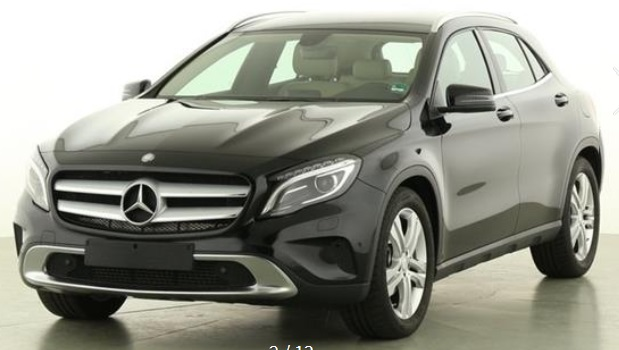 lhd MERCEDES GLA (05/2015) - BLACK METALLIC - lieu: