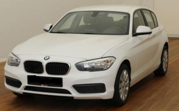 lhd BMW 1 SERIES (05/2015) - WHITE - lieu: