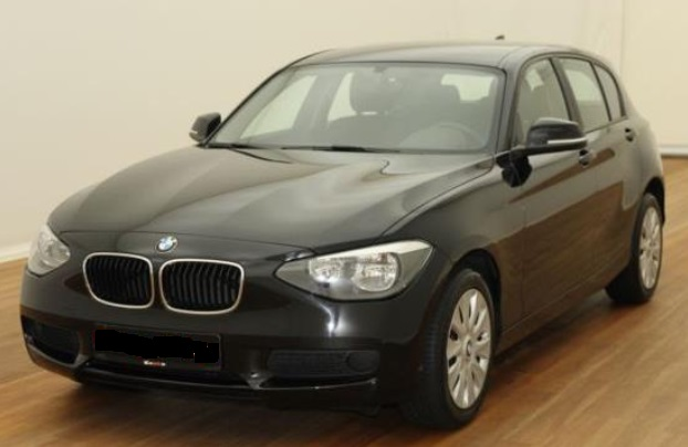 lhd BMW 1 SERIES (03/2015) - BLACK - lieu: