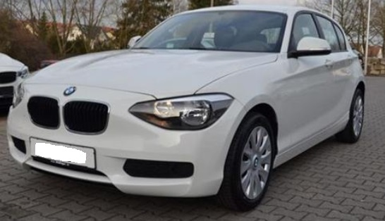 Lhd BMW 1 SERIES (01/2015) - WHITE - lieu: