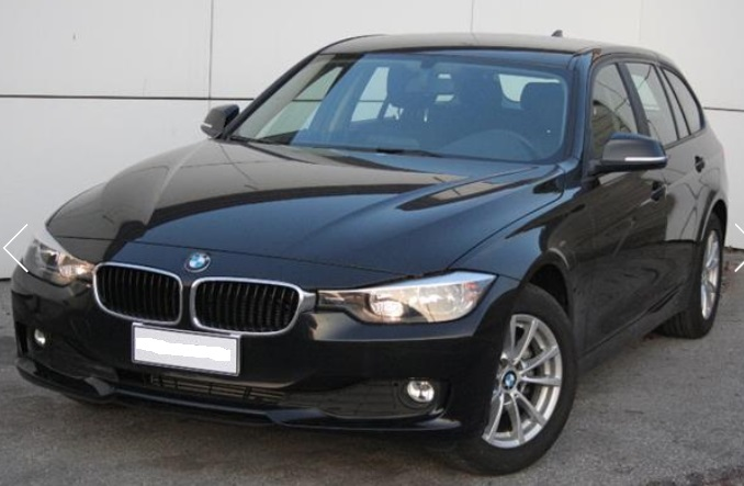 lhd BMW 3 SERIES (02/2015) - BLACK METALLIC - lieu: