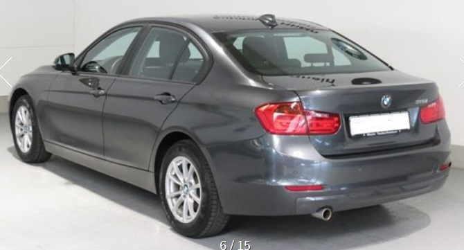 BMW 3 SERIES (04/2015) - GREY METALLIC - lieu: