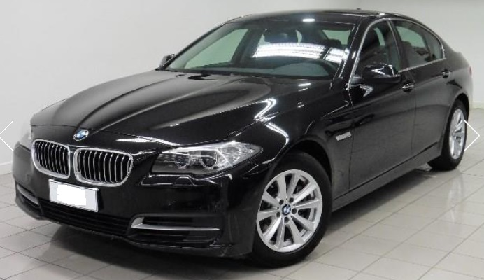lhd BMW 5 SERIES (03/2015) - BLACK METALLIC - lieu: