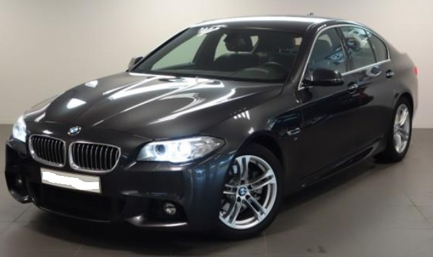 lhd BMW 5 SERIES (01/2015) - GREY METALLIC - lieu: