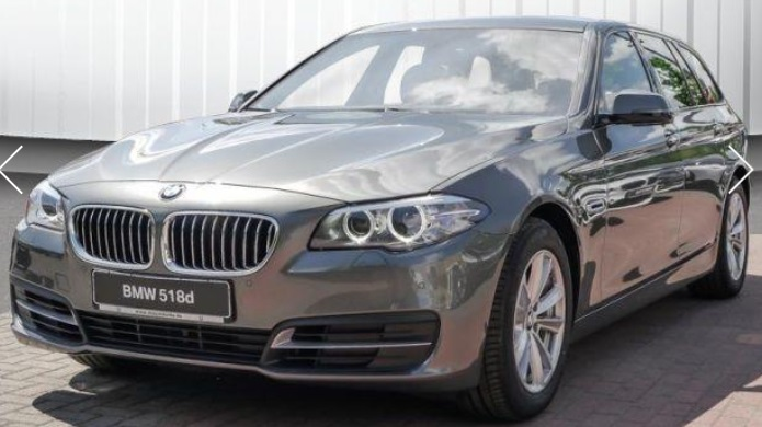 lhd BMW 5 SERIES (08/2015) - GREY METALLIC - lieu: