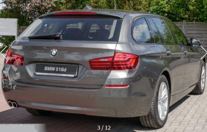 BMW 5 SERIES (08/2015) - GREY METALLIC - lieu:
