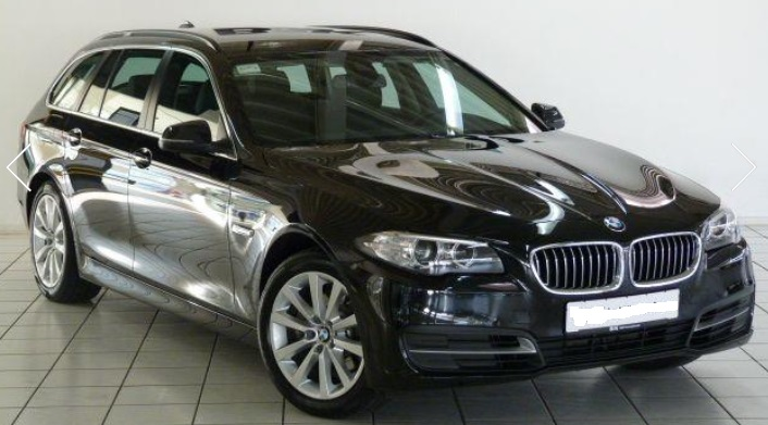 lhd BMW 5 SERIES (09/2015) - BLACK METALLIC - lieu: