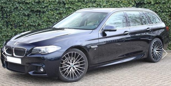 lhd BMW 5 SERIES (01/2015) - BLACK METALLIC - lieu: