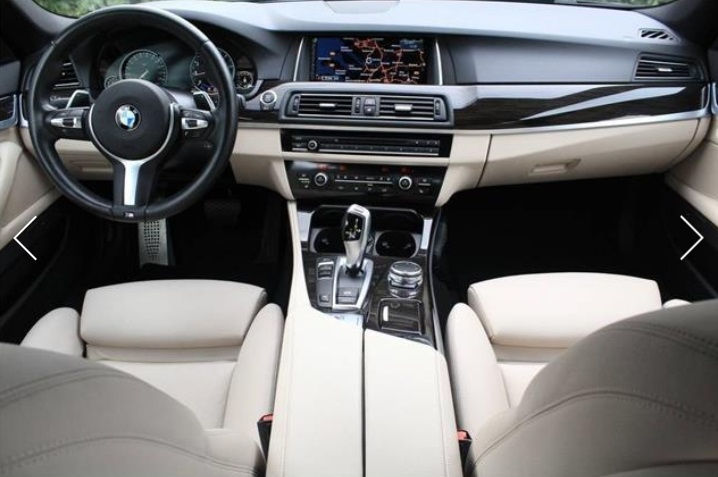 BMW 5 SERIES (01/2015) - BLACK METALLIC - lieu: