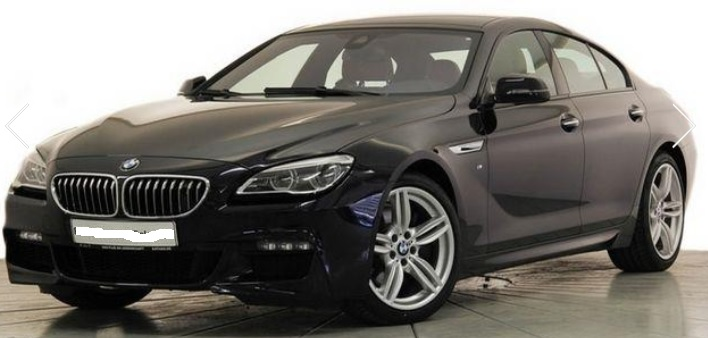 lhd BMW 6 SERIES (03/2015) - BLACK METALLIC - lieu: