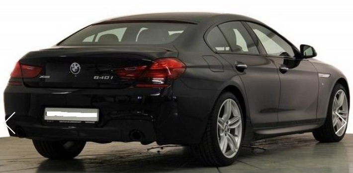 BMW 6 SERIES (03/2015) - BLACK METALLIC - lieu: