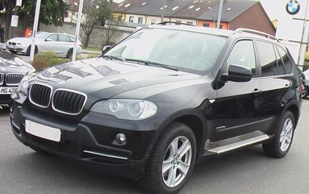 lhd car BMW X5 (06/2009) - BLACK - lieu: