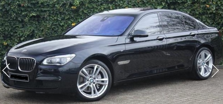 lhd BMW 7 SERIES (11/2015) - BLACK METALLIC - lieu:
