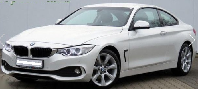 lhd BMW 4 SERIES (03/2015) - WHITE METALLIC - lieu: