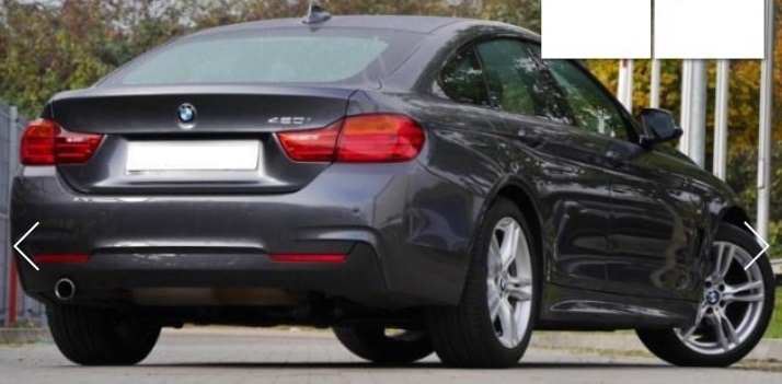 Lhd BMW 4 SERIES (04/2015) - GREY METALLIC - lieu: