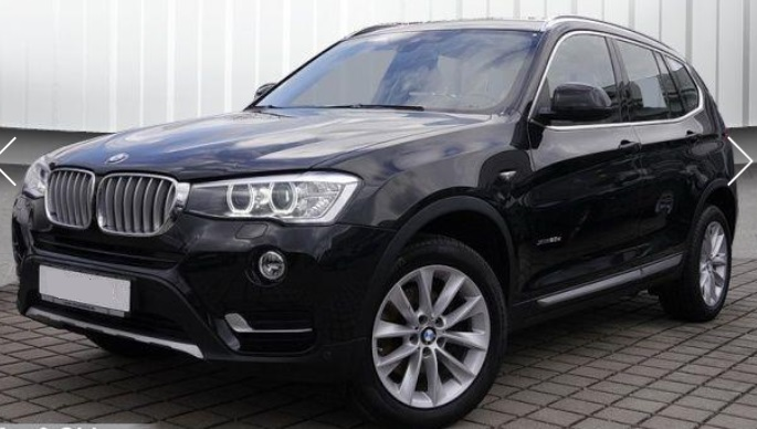 lhd BMW X3 (01/2015) - BLACK METALLIC - lieu: