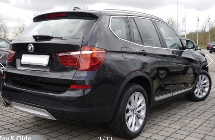 BMW X3 (01/2015) - BLACK METALLIC - lieu: