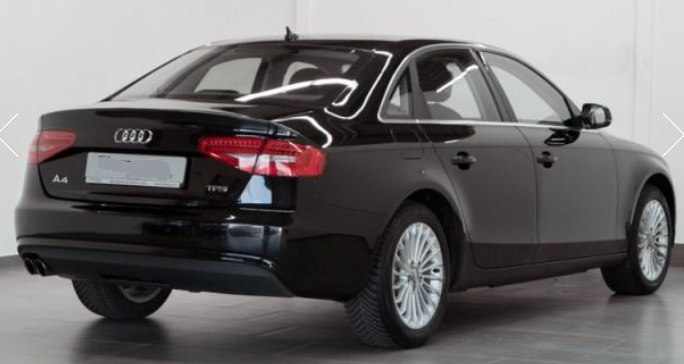 AUDI A4 (08/2015) - BLACK METALLIC - lieu: