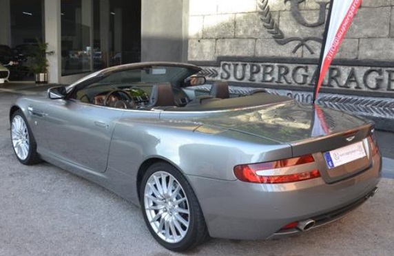 Lhd ASTON MARTIN DB9 (07/2007) - GREY METALLIC - lieu: