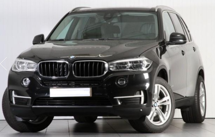 lhd BMW X5 (08/2015) - BLACK METALLIC - lieu: