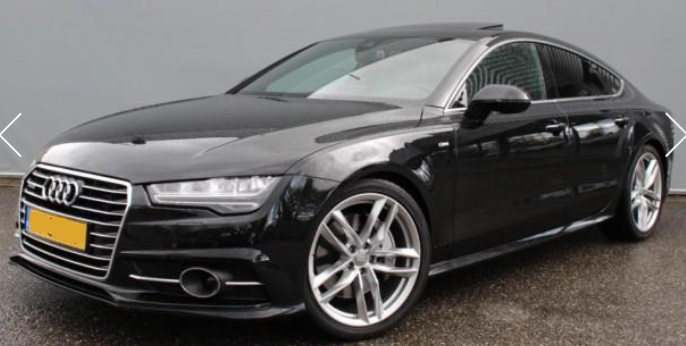 lhd AUDI A7 (05/2015) - BLACK METALLIC - lieu: