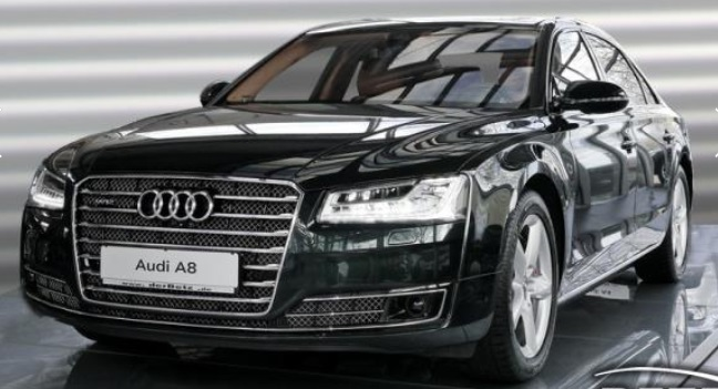 lhd AUDI A8 (04/2015) - BLACK METALLIC - lieu: