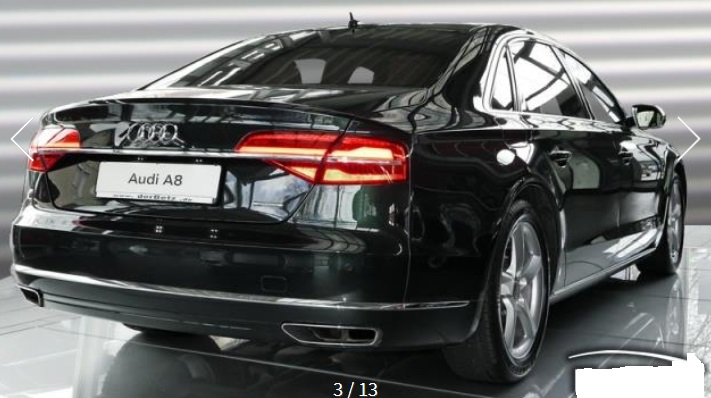 AUDI A8 (04/2015) - BLACK METALLIC - lieu: