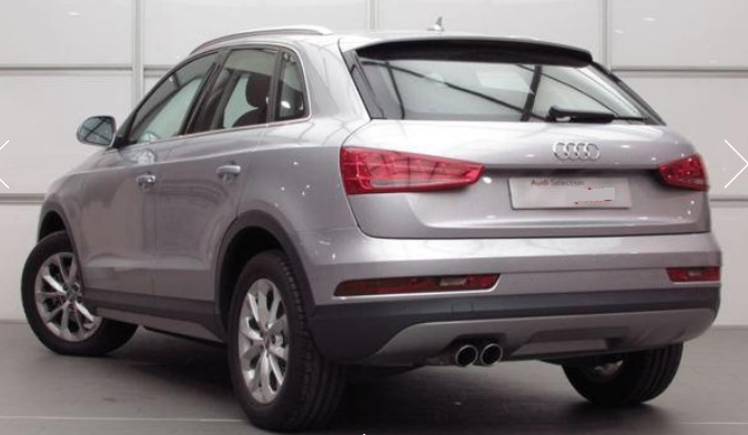 Lhd AUDI Q3 (02/2015) - GREY METALLIC - lieu: