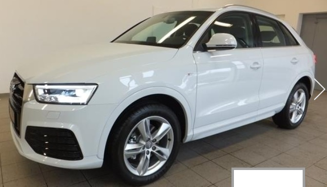 AUDI Q3 (12/2015) - WHITE METALLIC - lieu: