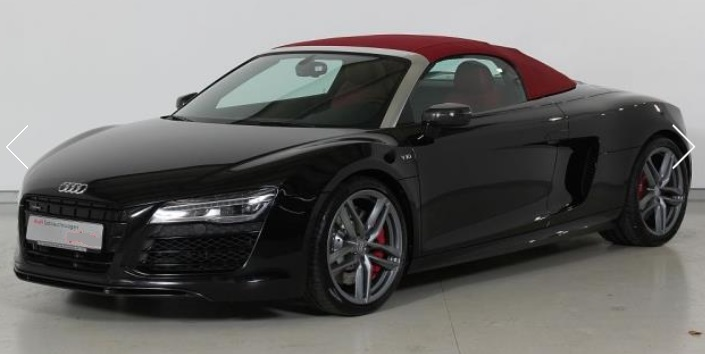 lhd AUDI R8 (02/2015) - BLACK METALLIC - lieu: