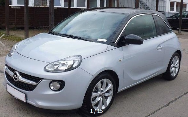 lhd OPEL ADAM (02/2015) - GREY METALLIC - lieu: