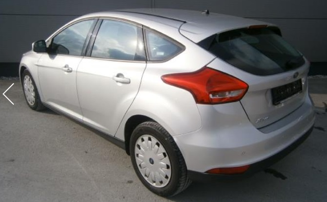 lhd car FORD FOCUS (07/2015) - SILVER METALLIC - lieu: