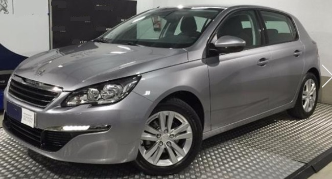 lhd PEUGEOT 308 (06/2015) - GREY METALLIC - lieu: