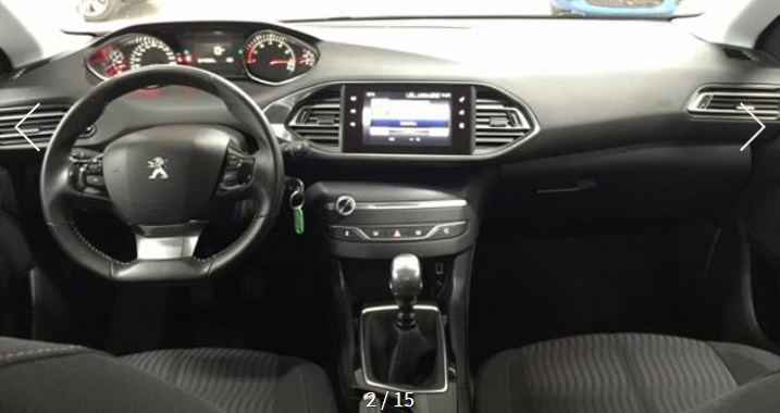 PEUGEOT 308 (06/2015) - GREY METALLIC - lieu: