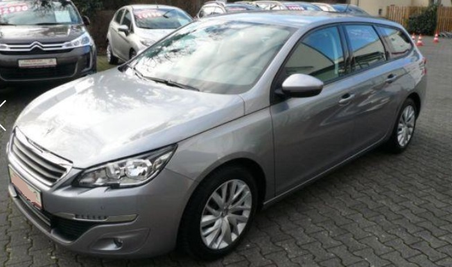 lhd PEUGEOT 308 (05/2015) - GREY METALLIC - lieu: