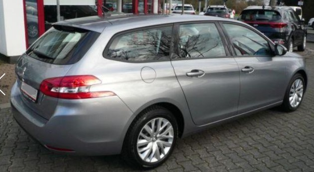 PEUGEOT 308 (05/2015) - GREY METALLIC - lieu: