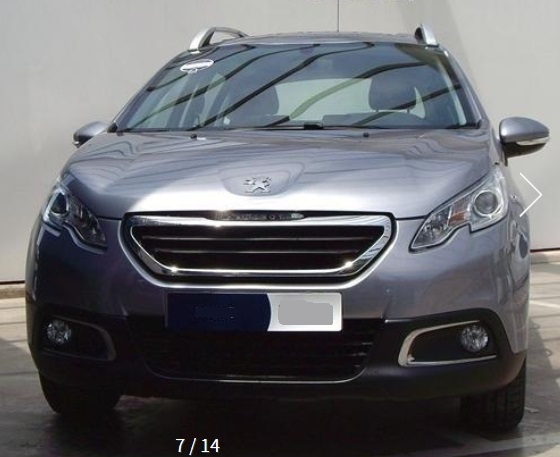 lhd PEUGEOT 2008 (03/2015) - GREY METALLIC - lieu: