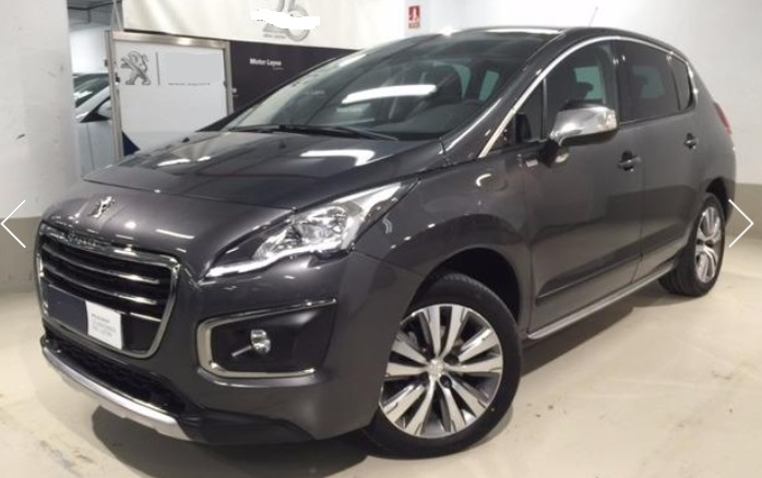 lhd PEUGEOT 3008 (06/2015) - GREY METALLIC - lieu: