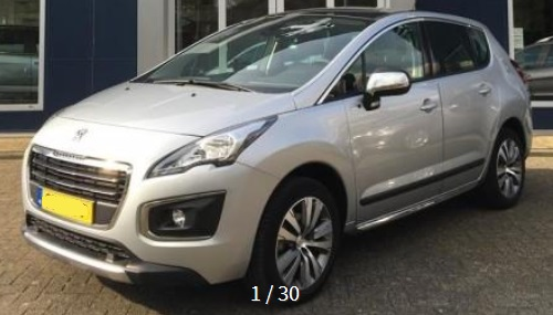 lhd PEUGEOT 3008 (04/2015) - GREY METALLIC - lieu: