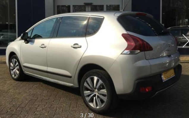 PEUGEOT 3008 (04/2015) - GREY METALLIC - lieu: