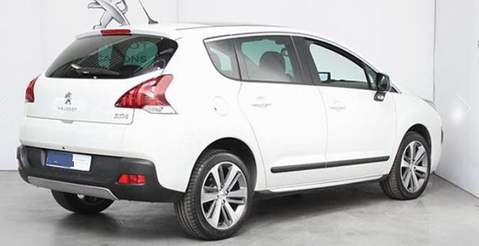 PEUGEOT 3008 (09/2015) - WHITE METALLIC - lieu: