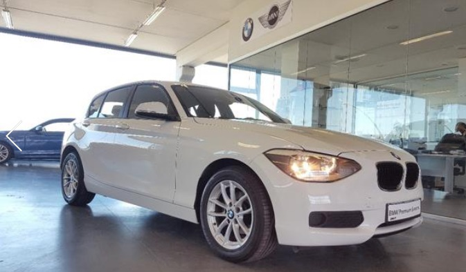 lhd BMW 1 SERIES (03/2013) - WHITE - lieu:
