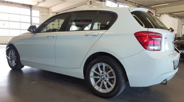 BMW 1 SERIES (03/2013) - WHITE - lieu: