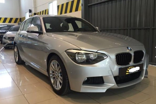 lhd BMW 1 SERIES (01/2013) - SILVER METALLIC - lieu: