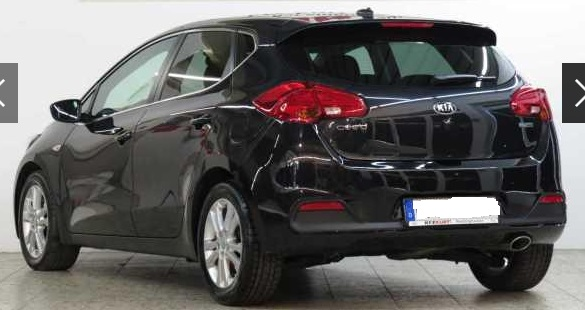 KIA CEED (07/2015) - BLACK METALLIC - lieu: