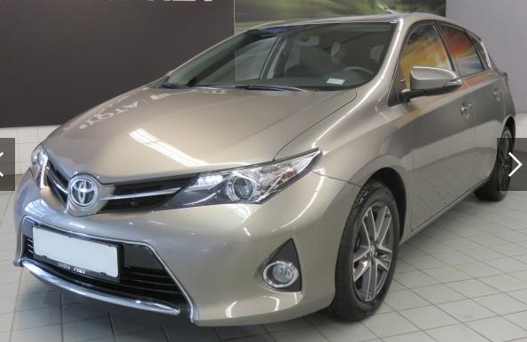 lhd TOYOTA AURIS (03/2015) - BROWN METALLIC - lieu: