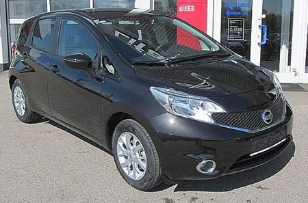 lhd NISSAN NOTE (03/2015) - BLACK METALLIC - lieu:
