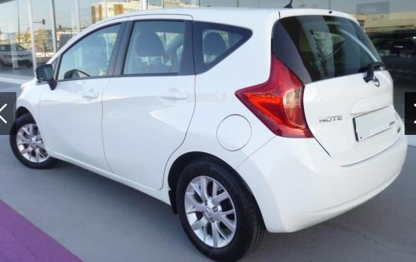 Left hand drive NISSAN NOTE 1.5dCi Acenta