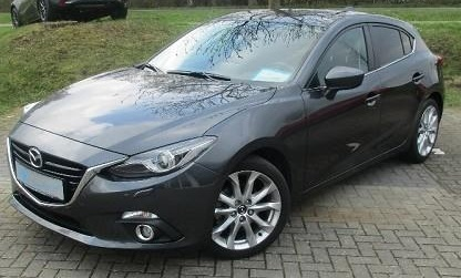 lhd MAZDA 3 (04/2015) - GREY METALLIC - lieu: