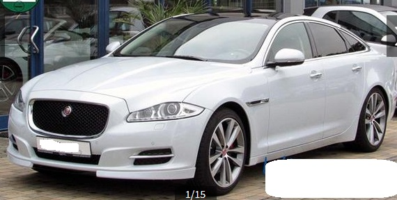 lhd JAGUAR XJ (06/2015) - WHITE METALLIC - lieu:
